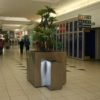 Mall Litter Bin and Chunky Cube Planter Southgate