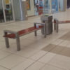 Modern Bench and Litter Bins