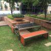 Orange Fibre Cane Contemporary Bench